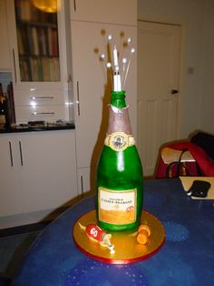 Pat's champagne bottle
