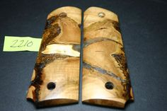 FIT CAST X-CUT MAPLE BURL CAP 1911 grips COLT 45 Mag resin GOV Blanks M1911 7-8 #206grips