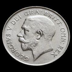 1924 George V Silver Shilling - Rare - GVF / AEF