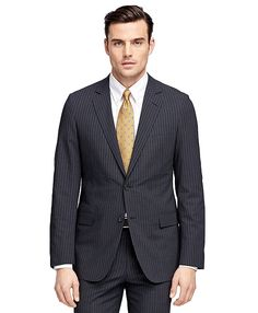 Fitzgerald Fit BrooksCool® Stripe SuitCharcoal