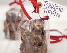 Cathryn Dresser's easy tiffin recipe is a no bake dessert made with digestive biscuits, chocolate, raisins, cherries and golden syrup. They ...