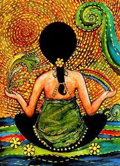 yoga and meditation Namaste, Yoga Kunst, Mystique, Yoga Art, Pranayama, Yoga Inspiration, Guided Meditation, Daily Meditation, Serenity