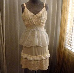 Vintage Slip Dress Pintuck Pleats Lace by SweetRepeatVintage,SOLD!