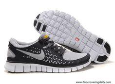 Grey Black White 395912-016 Nike Free Run Mens Online