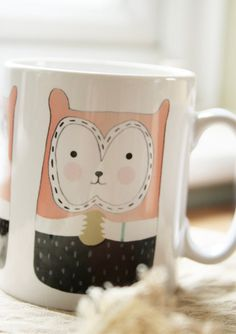 Squirrel Mug  woodland cup animalkitchen gift by jillybirddesign, £6.00