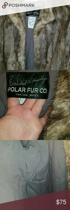 Fur Coat. I bought this with a fantasy it would fit me... I tried to force it and pulled a seem. Easily could be fixed. Sad to let it go finally but I will never have smaller shoulders no matter how skinny I get. Approximately lg-14/16. 100% real fur. Hand sewn and made here in my home town. polar fur co Jackets & Coats