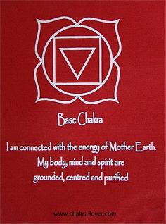 root chakra- affirmation    looking more at the graphic