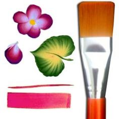 Awesome face painting brush to use with split-cake face paints -- 1 Inch Flat! $9.95