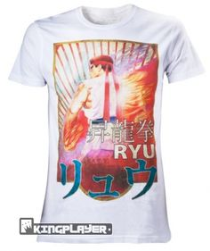 Street Fighter T-Shirt: Ryu Character (Weiß) Bioworld
