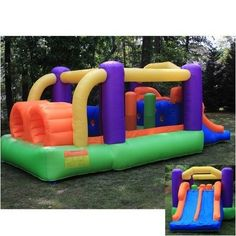 Obstacle Racer Inflatable Bouncer Bounce House   http://stores.shop.ebay.com/jodezegiftsnmore