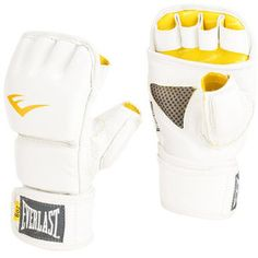 Everlast Womens 6-Ounce Leather Kickboxing Gloves, White