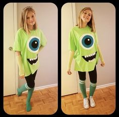 20 Couples Halloween Costumes To Try With Your BFF - butter and jelly halloween costume for you and your bff!bff halloween costumes 31 Greatest DIY H . Diy Mike Wazowski Costume, Sully Costume Diy, Mike And Sully Costume, Monsters Inc Costume Diy, Monster Inc Costumes, Diy Teen Halloween Costumes, Disney Costumes For Women, Meme Costume, Maquillage Halloween