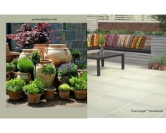 How To Create A Stylish Garden With Outdoor Tiles | Topps Tiles Outside Flooring, Garden Tiles, Topps Tiles, Outdoor Tiles, Create, Stylish, Plants, Courtyards, Plant