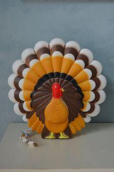 Vintage UNION DON FEATHERSTONE Turkey Blow Mold Light.