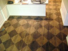 Love these wooden painted floors (found via From London with decorating before and after interior interior design floor design Concrete Wood Floor, Painted Wood Floors, Hardwood Floors, Cement, Wood Flooring, Sand Floor, Checkerboard Floor, Floor Stain, English Decor
