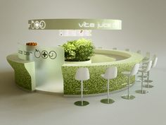 Vita Juice bar, Budapest, Hungary 2007-2010 by MYD-II interior design studio, via Behance