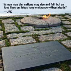 Eternal Flame-Arlington Cemetary JFK's grave
