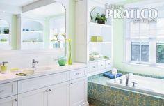 Salle de bain vert tendre