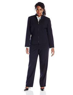 Tahari ASL Women's Plus-Size Leeann Pant Suit, Navy, 14W ... http://www.amazon.com/dp/B012GCMLR4/ref=cm_sw_r_pi_dp_-bvixb17K9ZZ0