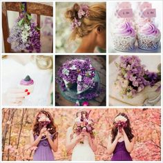 PANTONE Color of the Year 2014 - Radiant Orchid nature wedding inspiration