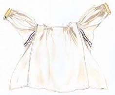 Rukávce, Úpor, začiatok 20. storočia. Rukávce, opľečko je ušité z domáceho bavlneného plátna, rovného strihu, s rukávmi kolmo prišitými.Konce rukávov má nazberané a všité do manžiet, ktoré boli vždy zdobené výšivkou. Siahalo do výšky bokov, spolu s rubášom, podolkom tvorili základ ženského odevu. Rukávce z domáceho bavlneného plátna plátna sa nosili vo sviatočné dni. Na všedné dni boli rukávce z domáceho konopného plátna.