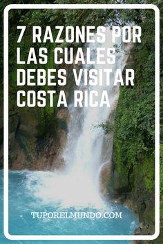 Sabías que Costa Rica es considerado uno de los países más felices del mundo y que  además es conocido como uno de los lugares más hermosos para visitar? Niagara Falls, Costa Rica, Nature, Blog, Travel, Happy, World, Countries, Places