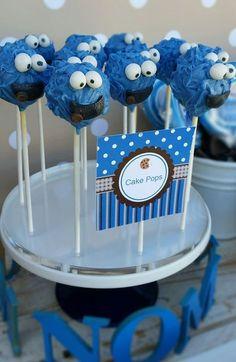 Little Wish Parties   Cookie Monster First Birthday   https://littlewishparties.com