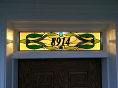 Stained Glass Transom  Traditional Style by TerrazaStainedGlass, $375.00