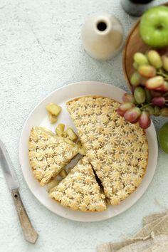 Marzipan and apple tart