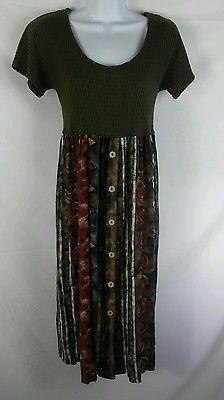 Rabbit Jr. NEW Multi-Color Empire Waist Mid Calf Length Dress Ladies 8