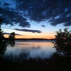 Midnight last summer at Längelmävesi, Kangasala, Finland. The colors were amazing!