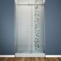 MAAX Halo 48 in. x 78-3/4 in. Frameless Sliding Shower Door with Clear Glass in Chrome Finish