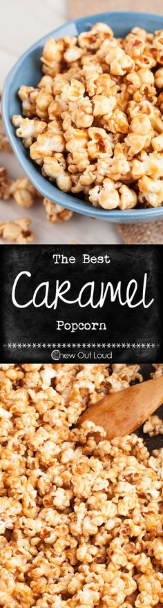Easy Caramel Corn Recipe - So simple, totally scrumptious, and crunchy. Snack attack solution that everyone raves over.
