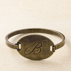Brass Initial Bracelet A - Z NEW  Order at www.nicoleglassgow.jewelkade.com Find me on facebook - Charmed in Chico