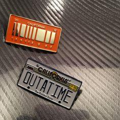 PREORDER - Delorean License Plate Set