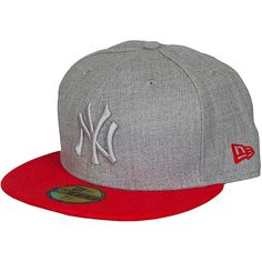 NE 59fifty Fitted Cap Pop Tonal NY Yankees grey/red