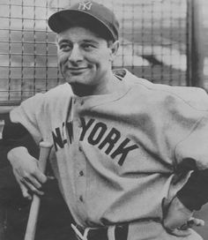 As a first baseman for the New York Yankees baseball team, Lou Gehrig played in consecutive games from 1925 to setting a major league record and had a career batting average of He once hit four home runs in a game. On July he stood before fans at… Lou Gehrig, New York Yankees, Yankees Fan, Baseball Records, Baseball Movies, Baseball Pics, Football Names, Baseball Tickets, Baseball Shoes