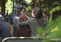 Emilie & Lana on set (July 14, 2015)