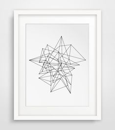 Geometric Print Abstract Art Minimalist Wall by MelindaWoodDesigns