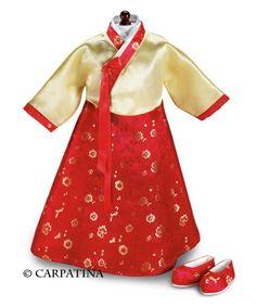 Korean Hanbok Dress Shoes Fits 18 American Girl Dolls for sale online Korean Hanbok, Korean Dress, Korean Traditional Dress, Traditional Dresses, American Girl Diy, Ag Doll Clothes, Baby Girl Dresses, Girl Dolls, Ag Dolls