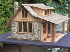Coastal Cottage Collectables... very nice miniature with stone and wood