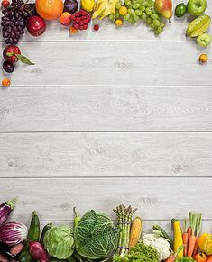 Wooden background fruits and vegetables Food Background Wallpapers, Food Wallpaper, Food Backgrounds, Fruits And Vegetables Images, Different Fruits And Vegetables, Food Menu Design, Food Poster Design, Fond Design, Wooden Background