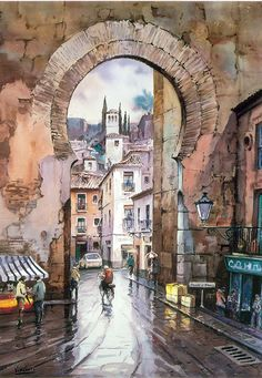 JULIO VISCONTI- Arco calle Elvira, Granada