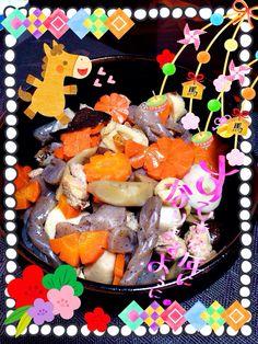 Thikuzen-ni for new year's dish
