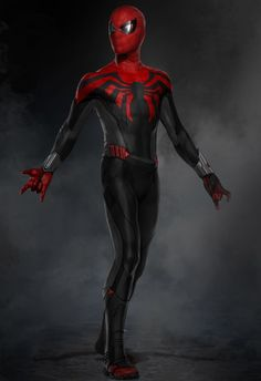 "Concept Art For SPIDER-MAN: HOMECOMING Shows Unused ""Superior"" and ""Scarlet"" Spider-Man Costume Designs"