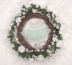 Mint  Newborn 2 Piece  Blouse & Bloomer Set   by BeeTeeBoutique