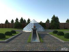 беседка (стекло) #architecture #3dvisualization #1floor_3m #minimalism #0_100m2 #alcove #arbor #pavilion #bower #summerhouse #gardenhouse #kiosk #arbour #facade_glass #smallobjects #architecture