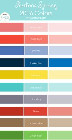 Pantone Spring 2016 Colors with shades and hues to create the perfect mismatching trendy look. Rose Quartz, Peach Echo, Serenity, Snorkel Blue, Buttercup and more! Color Trends, Color Combos, Color Schemes, Pantone 2016, Pantone Color, Spring Summer 2016, Spring Summer Fashion, Snorkel Blue, Lilac Grey