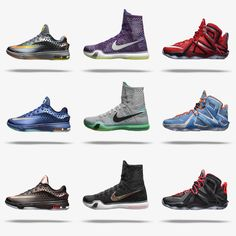 """Three """"elite"""" versions are back for the KD7, Kobe X and LeBron 12."""