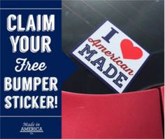 FREE I Love American Made Stickers on http://www.icravefreebies.com/
